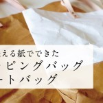 クラウドファンディングに挑戦中 vol.1 「何度も洗える紙でできた手作りショッピングバッグ&トートバッグをつくります。」